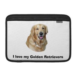 ゴールデン・リトリーバー犬の写真のポートレート MacBook スリーブ
