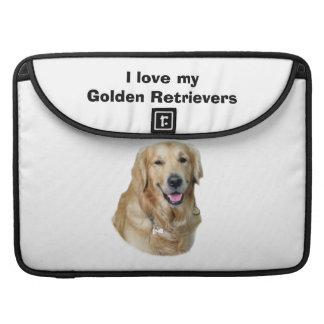 ゴールデン・リトリーバー犬の写真のポートレート MacBook PROスリーブ