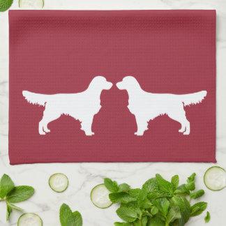 ゴールデン・リトリーバー犬の台所皿タオル キッチンタオル