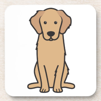 ゴールデン・リトリーバー犬の漫画 コースター