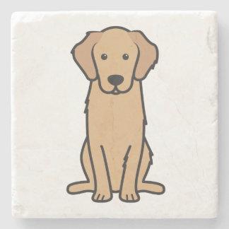 ゴールデン・リトリーバー犬の漫画 ストーンコースター