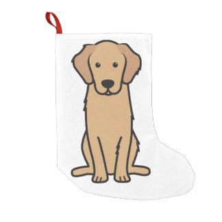 ゴールデン・リトリーバー犬の漫画 スモールクリスマスストッキング