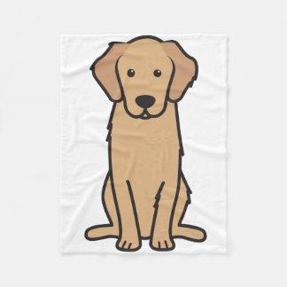 ゴールデン・リトリーバー犬の漫画 フリースブランケット
