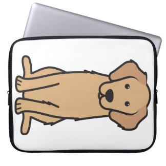 ゴールデン・リトリーバー犬の漫画 ラップトップスリーブ
