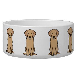 ゴールデン・リトリーバー犬の漫画 犬のえさ皿