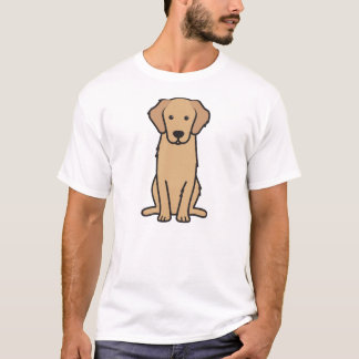 ゴールデン・リトリーバー犬の漫画 Tシャツ