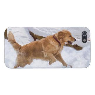ゴールデン・リトリーバー犬の精通したiPhone 5の場合 iPhone SE/5/5sケース