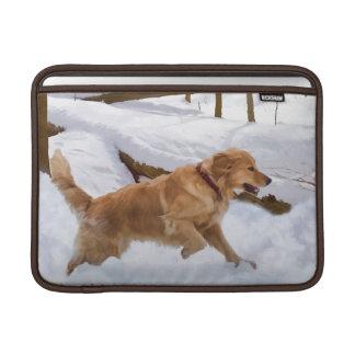 ゴールデン・リトリーバー犬のMacbookの空気袖 MacBook スリーブ