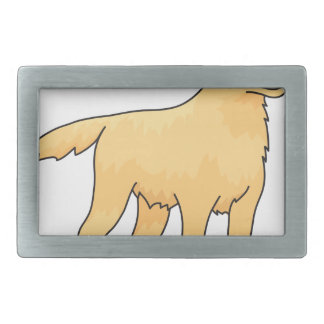 ゴールデン・リトリーバー犬 長方形ベルトバックル