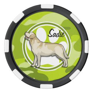 ゴールデン・リトリーバー; 若草色の迷彩柄、カムフラージュ カジノチップ