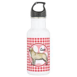 ゴールデン・リトリーバー; 赤と白のギンガム ウォーターボトル