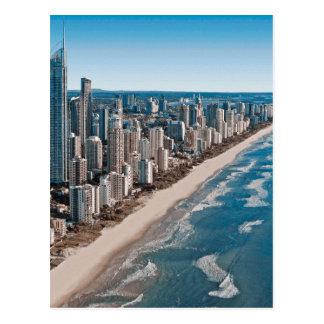 ゴールド・コーストオーストラリアの空中写真 ポストカード