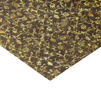 ゴールド・トーンのブロケードパターン 薄葉紙