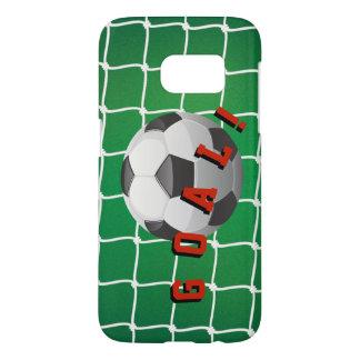 ゴール|のサッカーのカッコいいのギフト SAMSUNG GALAXY S7 ケース