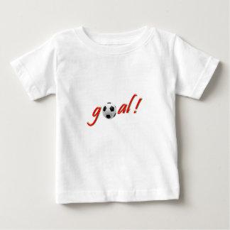 ゴール! サッカーのために熱狂する ベビーTシャツ