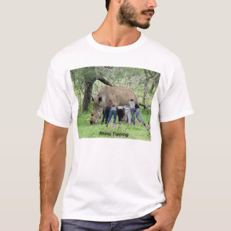 サイのひっくり返ること Tシャツ