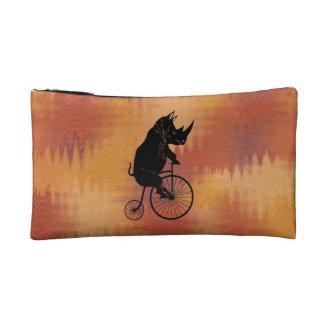 サイの乗馬のヴィンテージの高い車輪のバイク コスメティックバッグ