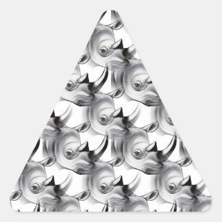サイの衝突 三角形シール