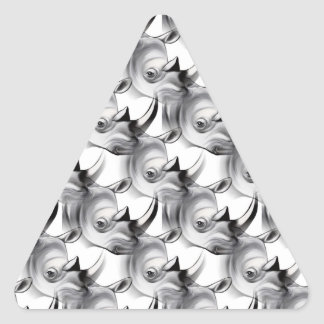 サイの衝突 三角形シール・ステッカー