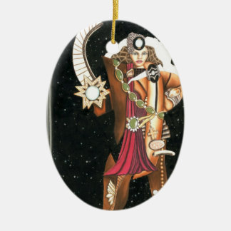 サイエンスフィクションのファンタジーの星のプリンセスの戦士CricketDiane セラミックオーナメント