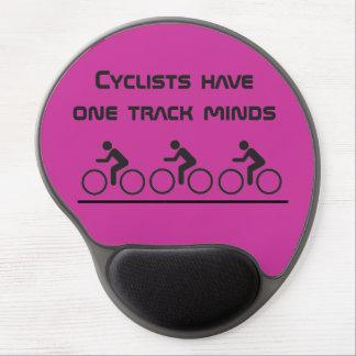 サイクリストに1つのトラック心があります ジェルマウスパッド