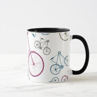 サイクリストのためのヴィンテージの自転車パターンギフト マグカップ