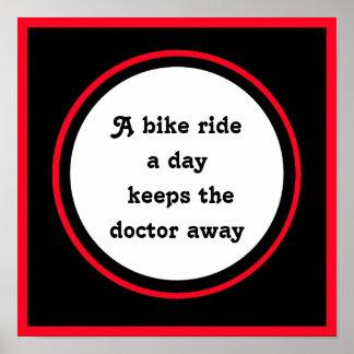サイクリストのための感動的な引用文 ポスター