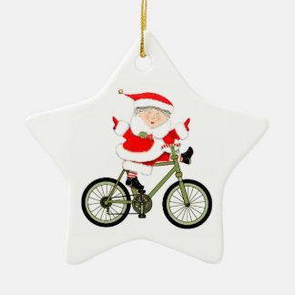 サイクリストのクリスマス セラミックオーナメント