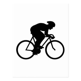 サイクリストのシルエット ポストカード