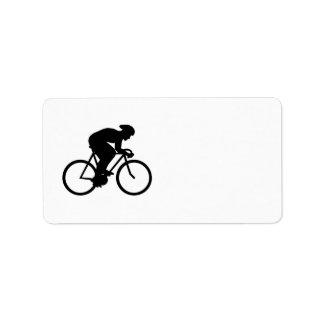 サイクリストのシルエット ラベル