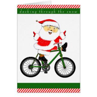サイクリストのホリデーカード カード