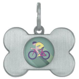 サイクリストのレーサーのベクトル ペットネームタグ