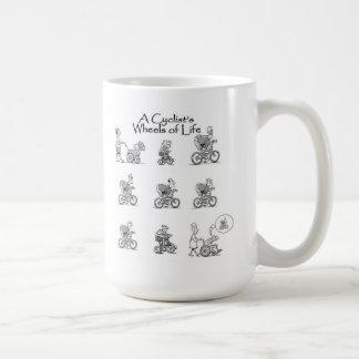 サイクリストの生命マグの車輪 コーヒーマグカップ