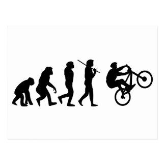 サイクリストの進化 ポストカード