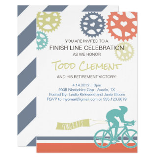 サイクリストの道のバイクの招待状 カード