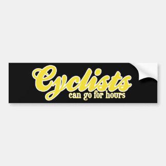 サイクリストは何時間も行くことができます バンパーステッカー