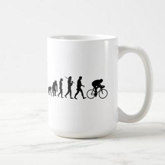 サイクリングのサイクリストの進化の自転車のライダー周期 コーヒーマグカップ