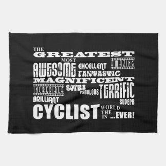 サイクリングのサイクリング及びサイクリスト: 最も素晴らしいサイクリストの世界 キッチンタオル