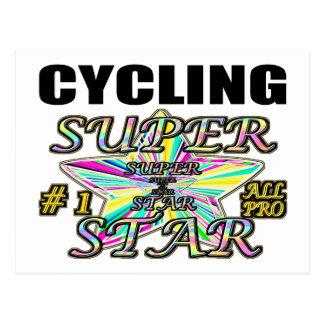 サイクリングのスーパースター ポストカード