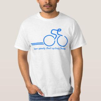 サイクリングのチャンピオンのパパのバイクのライダーのティー Tシャツ