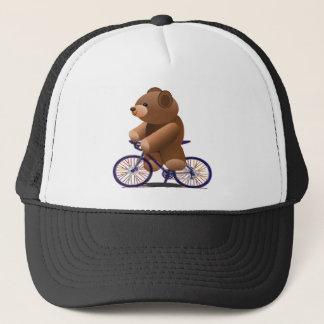 サイクリングのテディー・ベアのプリント キャップ