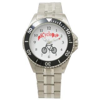 サイクリングのバイクファンの腕時計 腕時計