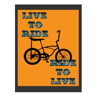 サイクリングのライフスタイル、古いバイク ポストカード