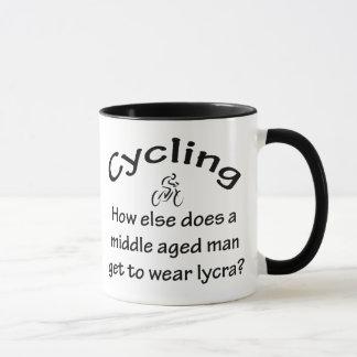 サイクリングの人 マグカップ
