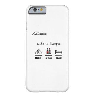 サイクリングの場合-生命シンプルがあります-バイク-ビール-ベッド BARELY THERE iPhone 6 ケース