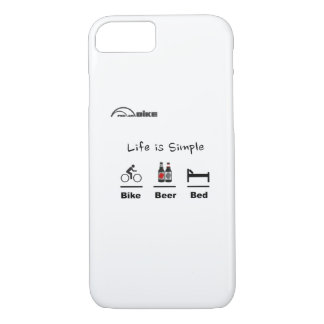 サイクリングの場合-生命シンプルがあります-バイク-ビール-ベッド iPhone 8/7ケース