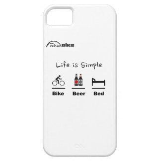 サイクリングの場合-生命シンプルがあります-バイク-ビール-ベッド iPhone SE/5/5s ケース