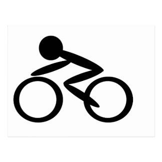 サイクリングの棒の姿 ポストカード