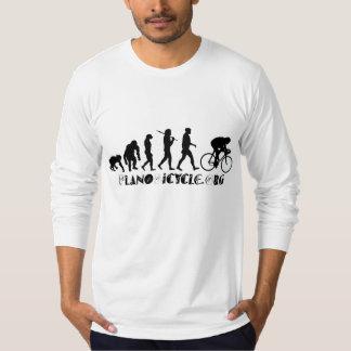 サイクリングの芸術品を気取ったなロゴのPlanoテキサス州のギアの進化 Tシャツ