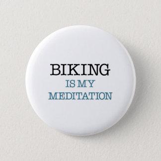 サイクリングは私の黙想です 缶バッジ